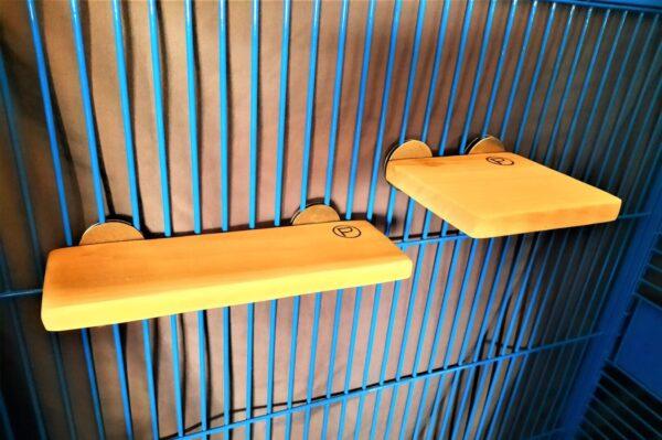 Flat Perch Shelf 4 x 1l and Flat perch 6 x 6