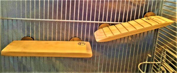 Platform Shelf 4 x 11 and Ramp 4 x 11 for Small birds